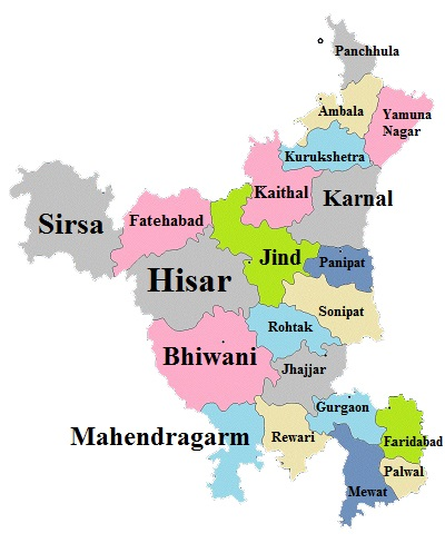 Haryana State Map And States Map Dhanviservices Dhanvi Services