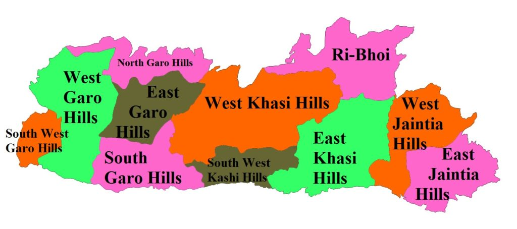 Meghalaya State Map And Districts Map DHanviservices Dhanvi Services