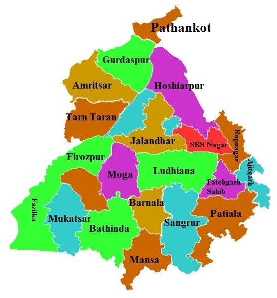 Punjab State Map And Districts Map Dhanvi Services Dhanviservices