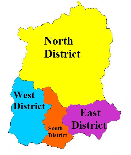 Sikkim State Map And Districts Map Dhanviservices Dhanvi Services