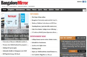 Banglore Mirror News Website Dhanviservices Dhanvi Services