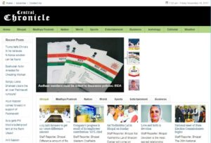 Central Chronicle News Website Dhanviservices Dhanvi Services