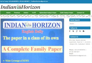 Indian Horizon News Website Dhanviservices Dhanvi Services