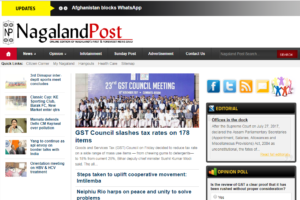 Nagaland Post News Website Dhanvi Services Dhanviservices