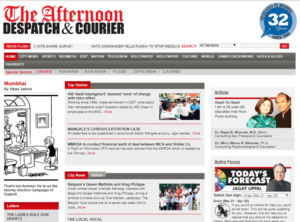 The Afternoon Despatch And Courior News Website Dhanviservices Dhanvi Services