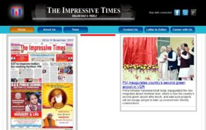 The Impressive Times News Website Dhanviservices Dhanvi Services