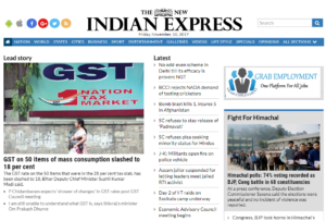 The New Indian Express News Website Dhanviservices Dhanvi Services