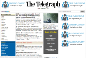 The Telegraph News Website Dhanviservices Dhanvi Services